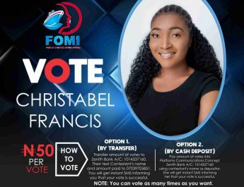 Christabel Fights Her Way Back Into Top 3 As Rachael Maintains Lead In Week 4 FOMI Voting Campaign